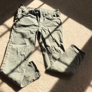 American Eagle olive green cropped jegging
